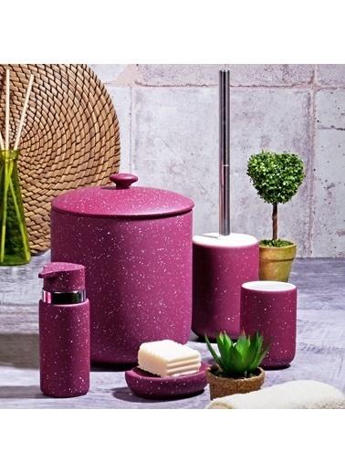 Kitchen World Kitchen World BNY-307 5 Parça Simli Banyo Seti Granit Mat Mor Mor